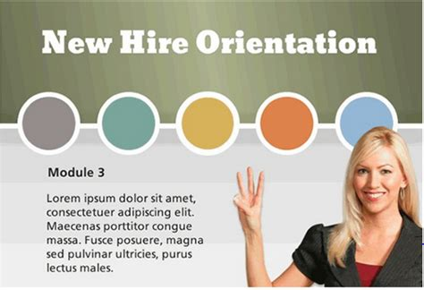 Freebie Gamified New Hire Orientation Template Building Better Courses Discussions E Orientation Powerpoint Presentation Template