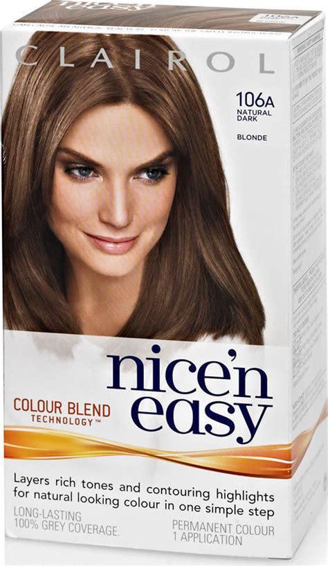 nice and easy hair colour chart clairol nice n easy hair colour dark blonde 106a compare