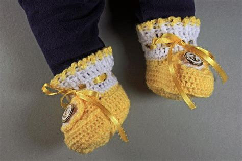 Handmade Baby Booties For Sale - yellow baby booties crochet unisex baby booties handmade