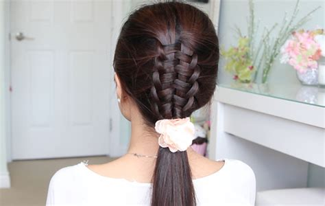 cute hairstyles zipper braid zipper braid suspended infinity braid hair tutorial