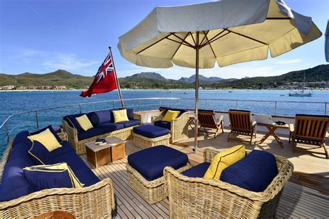 yacht upper deck superyacht commitment upper deck lounging area yacht