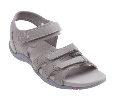 qvc ryka sandals ryka perforated quarter adjustable sandals page 1