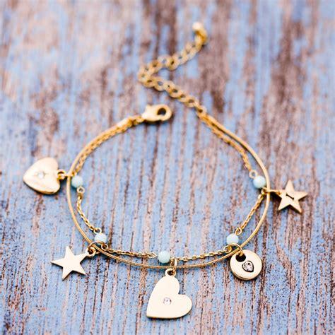 beaded charm bracelets personalised delicate bead charm bracelet by j s jewellery