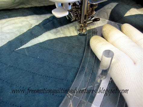 How To Use A Quilting Foot On A Sewing Machine by S Free Motion Quilting Adventures A Ruler Foot Alternative Parrs Reel Ruler