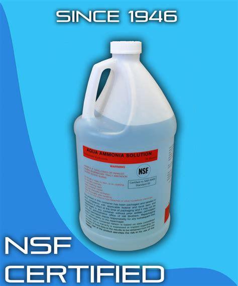 ammonium hydroxide 28 1 gallon aqua ammonia nsf certified cleaner antimicrobial ebay