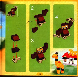 Printable Lego Animal Instructions   lego animals instructions 4408 creator