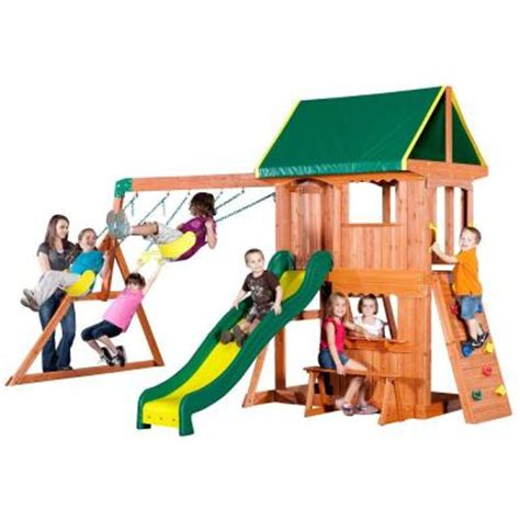 backyard somerset swing set backyard discovery somerset all cedar swing playset
