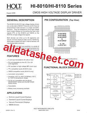 holt integrated circuits wiki hi 8010j 85 datasheet pdf holt integrated circuits