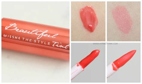 Missha Watery Tint review missha the style beautiful tint no 04 moist coral
