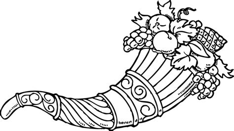 empty cornucopia coloring page az coloring pages