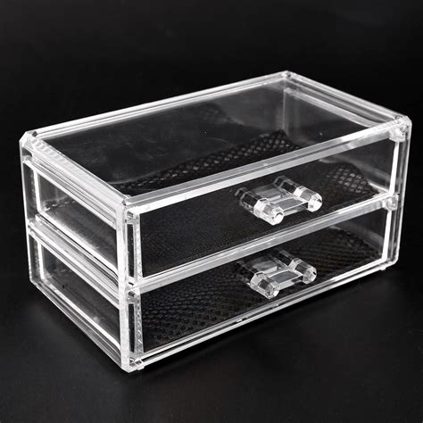 Acrylic Drawers Uk by Beautiful 2 Tier Clear Acrylic Cosmetic Makeup Organiser