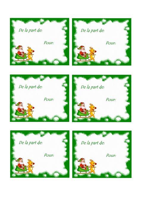 Etiquettes Cadeau Noel by Etiquettes Cadeaux Noel