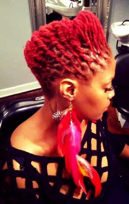 loc style locs dreadlocks red styles de coiffures