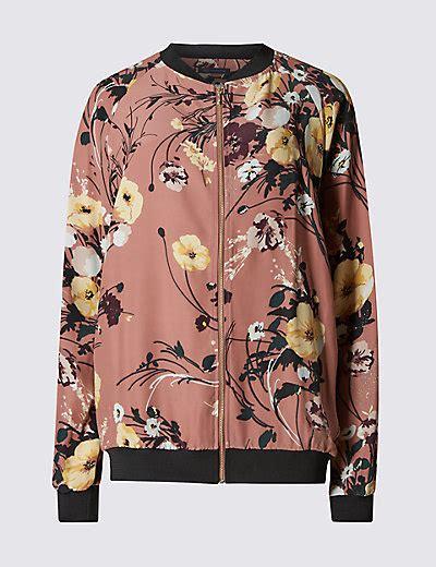 J 42565 Flower Jaket floral print bomber jacket m s