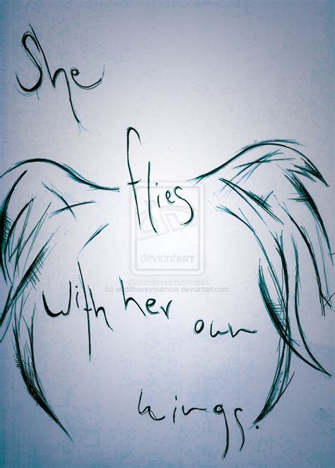 she flies with her own wings tattoo she flies with own wings tattoos