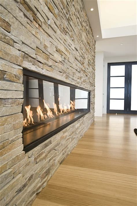 Outdoor Linear Fireplace - fireplace