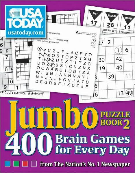 usa today crossword book usa today jumbo puzzle book 2 400 brain games for every