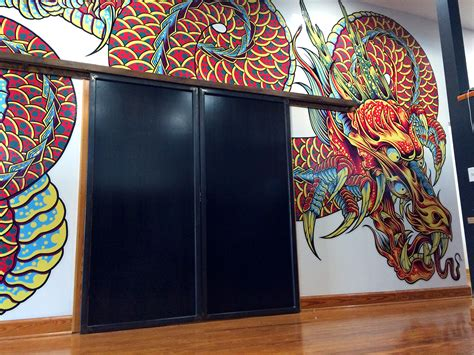 wall mural installation space studio wall mural installation on behance