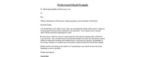 writing a professional email template how to write professional emailbusiness letter exles