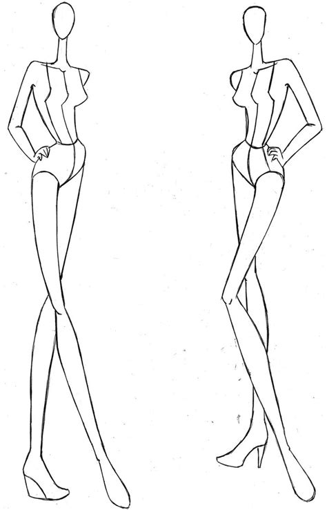 croquis template the gallery for gt high fashion croquis templates