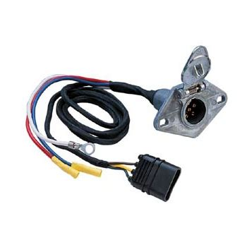 4 wire flat to 6 pole vehicle wiring adapter with