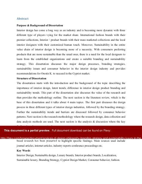 interior design dissertation design branding sustainability luxury of interior design