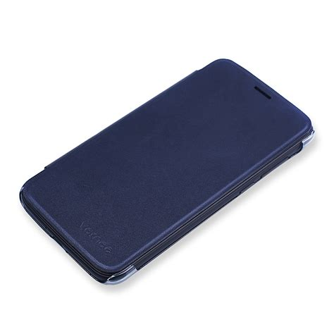 blue leather cover original leather protective flip cover for vernee
