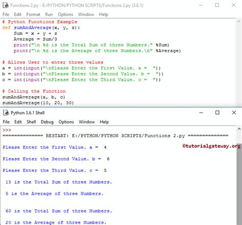 python tutorial def functions in python