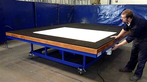 the glass racking company air float cutting table