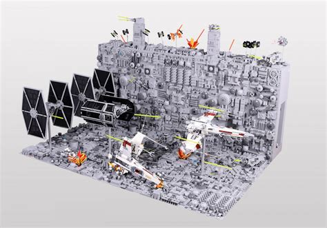 Amazing Chess Sets by Amazing Lego Star Wars Death Star Trench Run Diorama