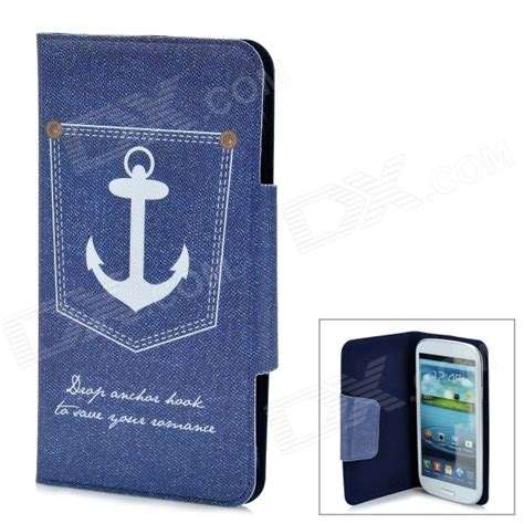 Flip Shell Fdt Samsung Galaxy S3 I9300 Blue protective flip open pu leather for samsung galaxy s3