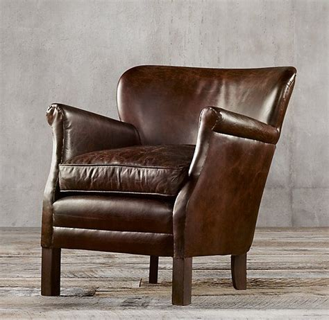restoration hardware professor chair no nail heads professor s leather chair living room