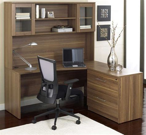 Living Room Brilliant Office Room Idea Implemented With L Home Office Desk And Hutch