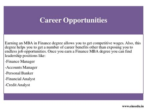 Opportunities For Mba Finance In Usa by Distance Mba In Finance Management From Welingkar