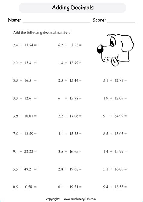printable math worksheets with decimals math worksheets 187 decimal math worksheets printable