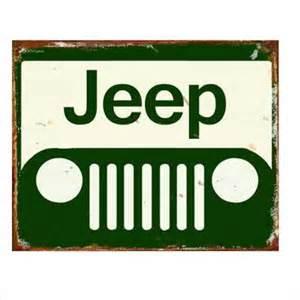 Jeep Sign Jeep Tin Sign Mainly Nostalgic Retro Tin Signs More