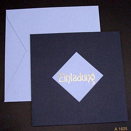 Einladungskarten Hochzeit Dunkelblau by Einladungskarte Dunkelblau Hellblau Goldpr 228 Gung Einladung