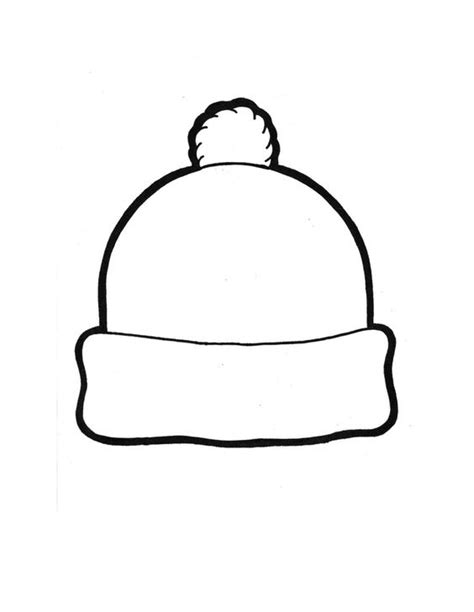 coloring page of a winter hat winter hat template 135867 winter hat coloring page