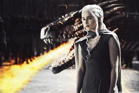 daenerys  dragon ultra hd desktop background wallpaper