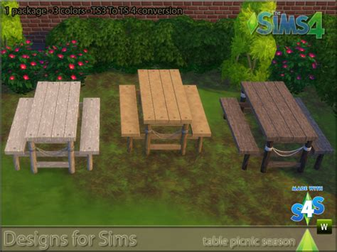 bench conversion ts3 picnic table and bench conversion by designs4sims