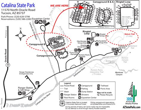 arizona state park map 2013 october rvseniormoments