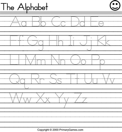 printable alphabet worksheets free printable activity sheets for kids bing images