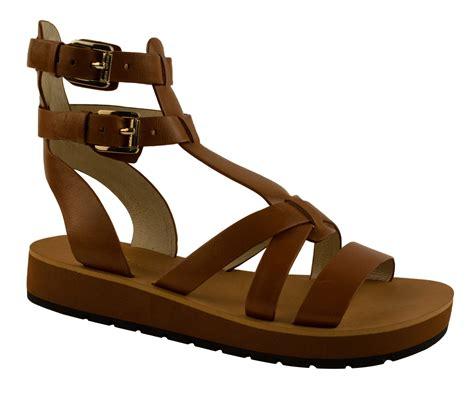 michael kors gladiator sandals michael michael kors s judie gladiator flat sandals