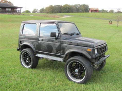 find used 1988 suzuki samurai black 4x4 2 door top