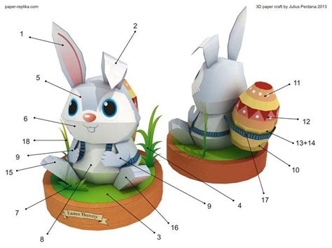 Paper Craft Rabbit - easter bunny paper craft http www paper replika