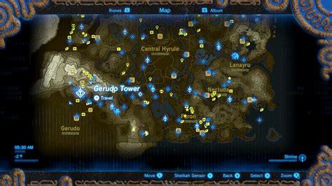 legend of zelda map location the legend of zelda breath of the wild divine beast