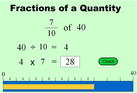 Fraction Of A Quantity Worksheet
