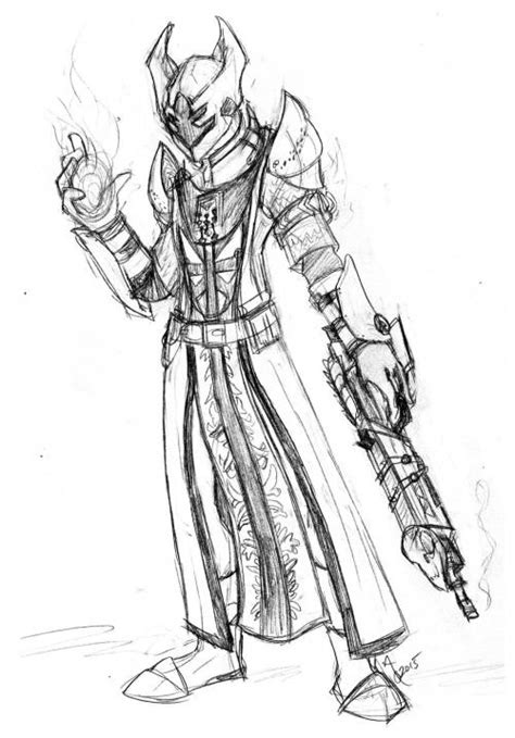 Destiny Warlock Drawing