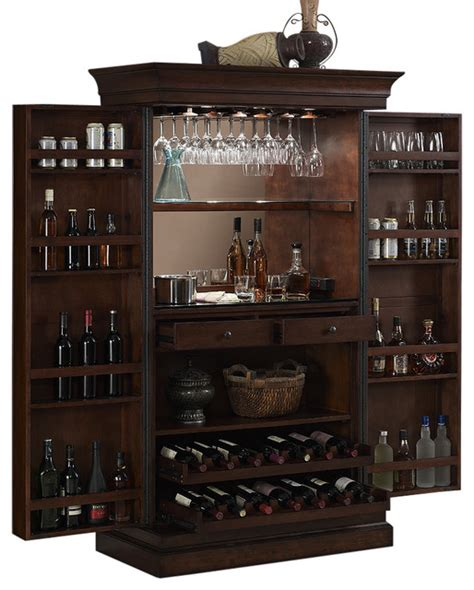serving cabinet transitional wine and bar