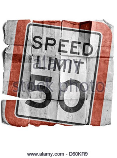 50 miles per hour speed limit warning sign on road in